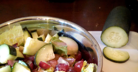 Cucumber Grape Salad with Red Wine Vinaigrette