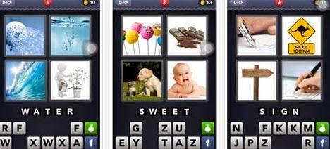 Game Android Tebak Kata: 4 Pics 1 Word