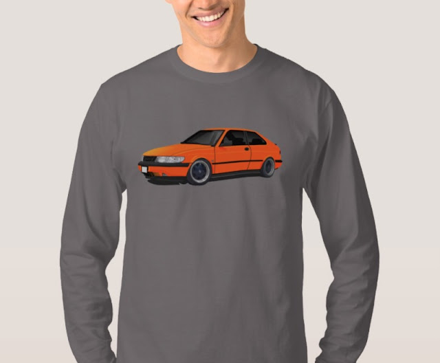Orange Saab 900 (NG900) shirt