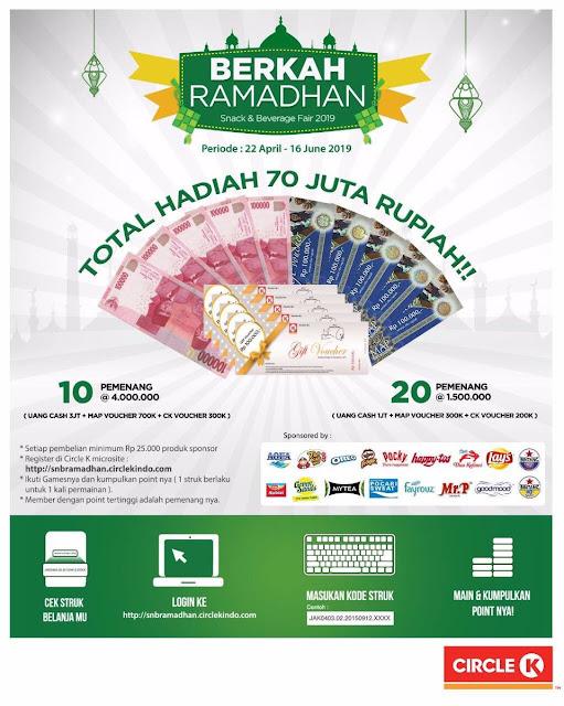 #CircleK - #Promo Kuis & Games Berkah Ramadhan Total Hadiah 70Jt (s.d 16 Juni 2019)