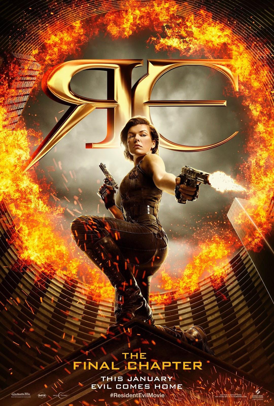 Resident Evil 6: O Capítulo Final ganhou hoje primeiro trailer e vários pôsteres