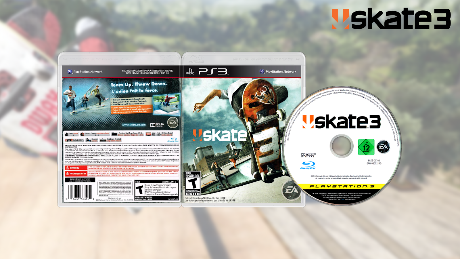 GAMES AND GAMERS: SKATE 3 PS3 DOWNLOAD