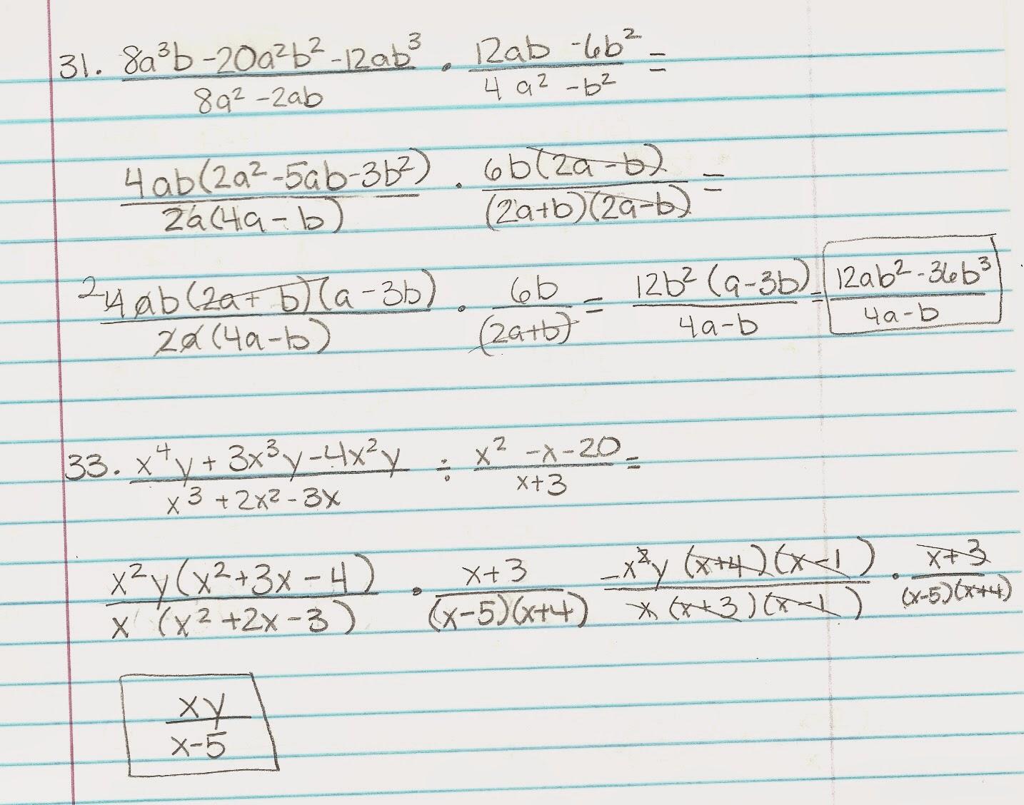 Algebra Alerts (Algebra 1 and 2): February 2015