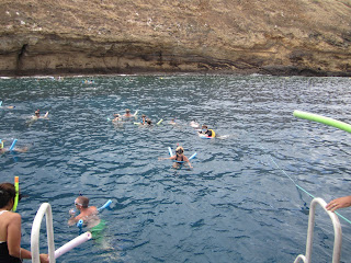 Snorkeling at Molikini island.