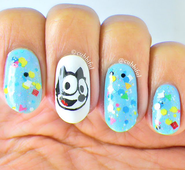 Felix the Cat Nail Art