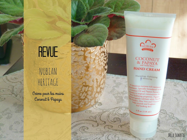 Revue hand cream Coconut and Papaya de Nubian Heritage