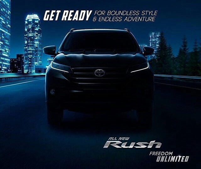 Penampakan Siluet All New Toyota Rush, Launching 23 November?