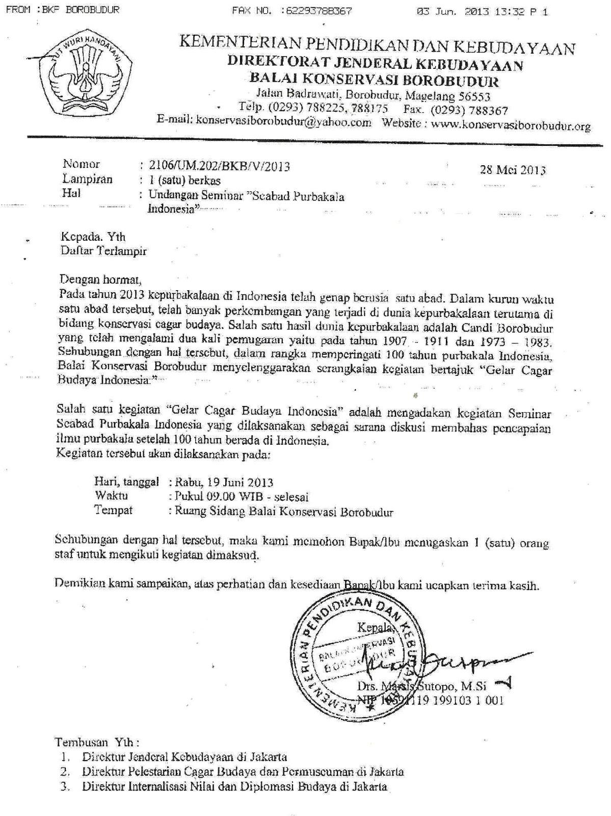 Contoh Surat Permohonan Narasumber Seminar