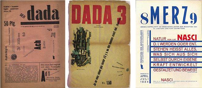 Portadas de revistas dadaistas