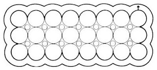 Crochet pattern, circle motif tablecloth, Crochet lace table runner