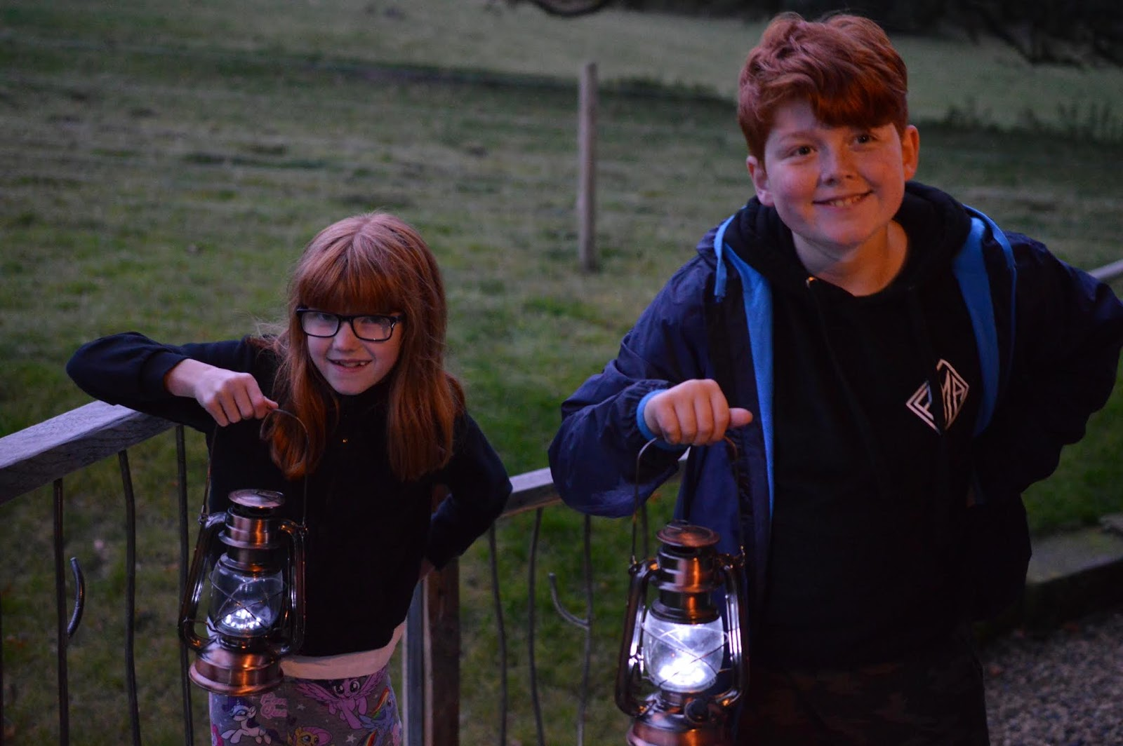 Experience Northumberland's Dark Skies with a Stay at Hesleyside Huts  - kids exploring in woods
