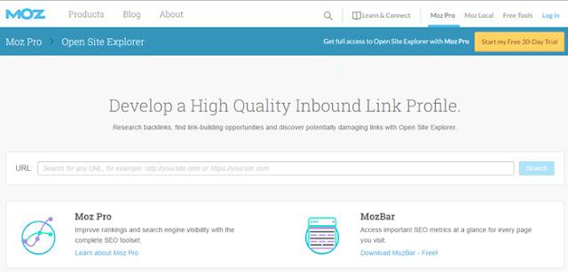 opensiteexplorer - free tool to check backlinks