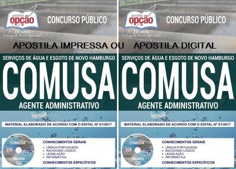 Apostila Concurso COMUSA Agente Administrativo (Novo Hamburgo)
