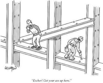 Escher, Get Up Here!
