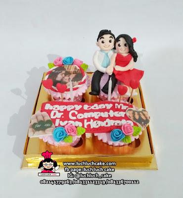 Cupcake Ulang Tahun Dengan Foto Edible Printing