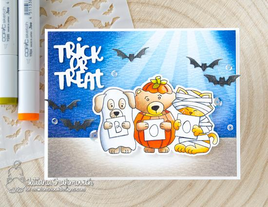 Halloween Card by Tatiana Trafimovich | Halloween Trio Stamp Set and Die Set by Newton's Nook Designs #newtonsnook #handmade