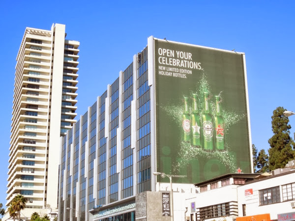 Heineken limited edition Holiday bottles billboard