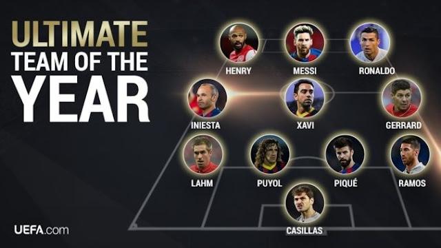 O time dos times do ano da UEFA