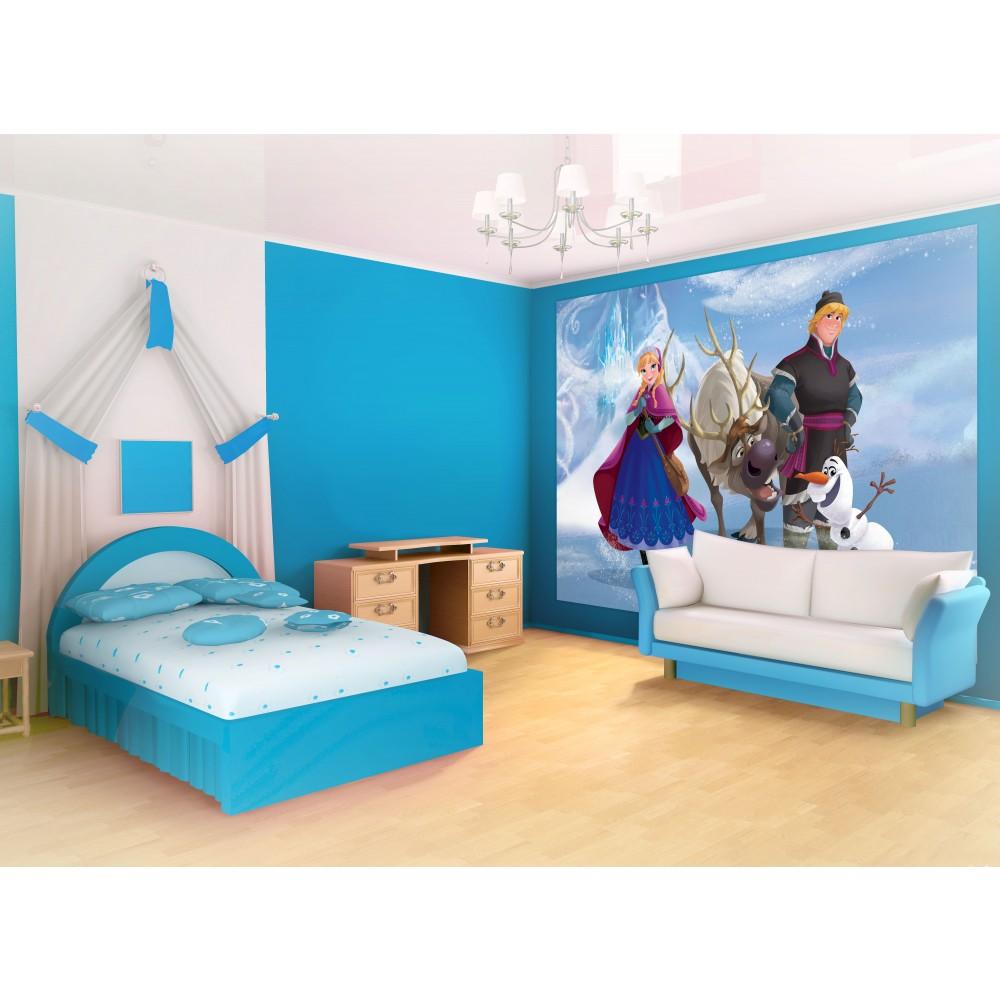 Gambar Desain Wallpaper Kamar Tidur Anak Frozen Rumah