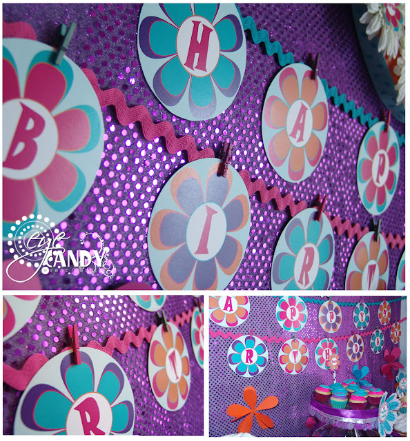 peace party banner, daisy banner, peace party decor