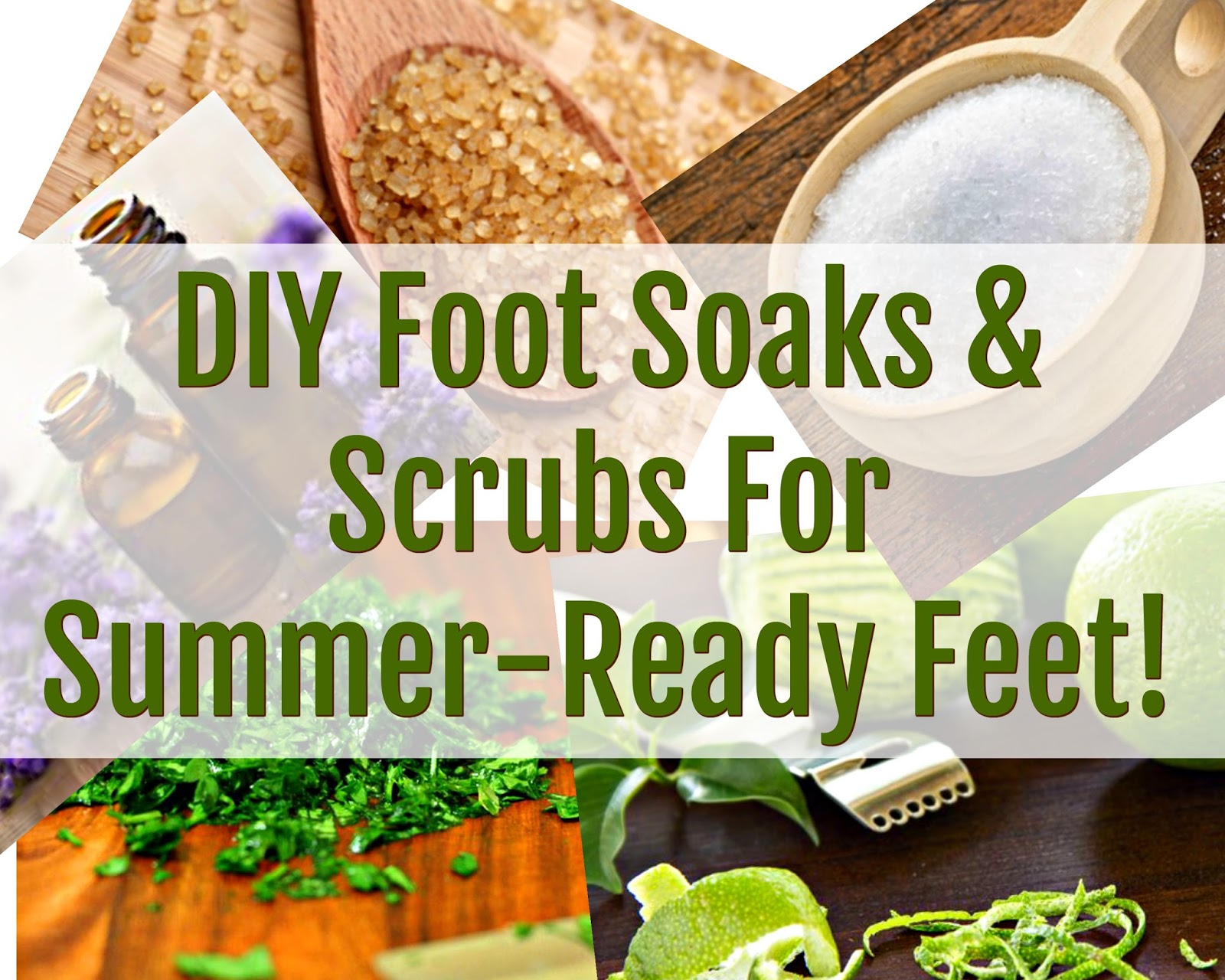 Pretty feet require a great foot soak or foot scrub and we've got the best DIY recipes to get your feet ready for summer!