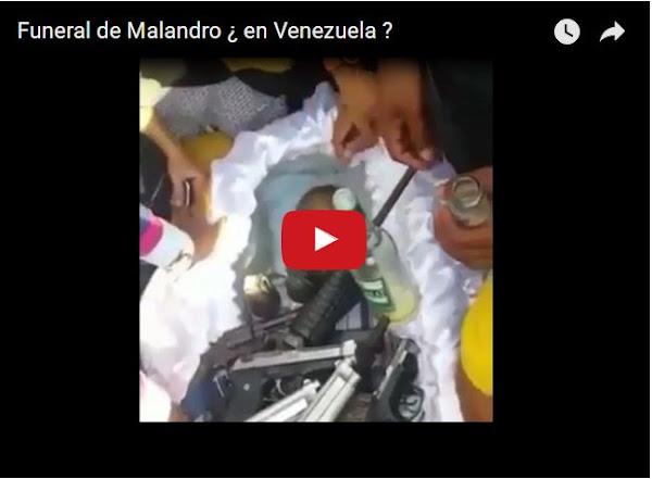 Así se entierra un malandro en Venezuela