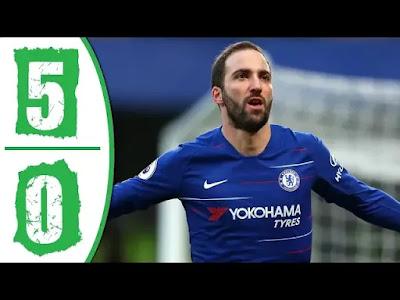 Chelsea vs Huddersfield 5-0 Football Highlights & Goals 2019