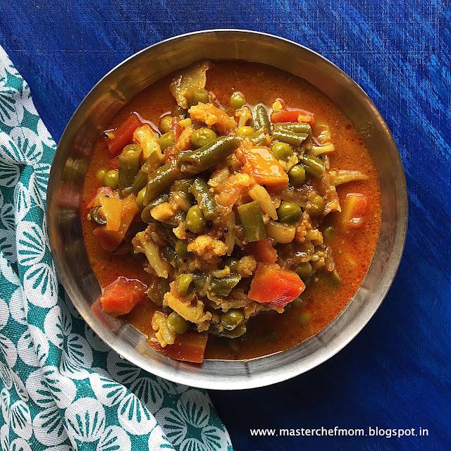 Tarkari Ni Kari    Parsi Style Vegetable Stew