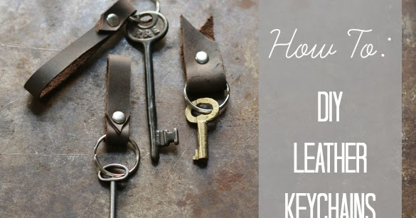 How To Make These Diy Leather Keychain Fobs 17 Apart