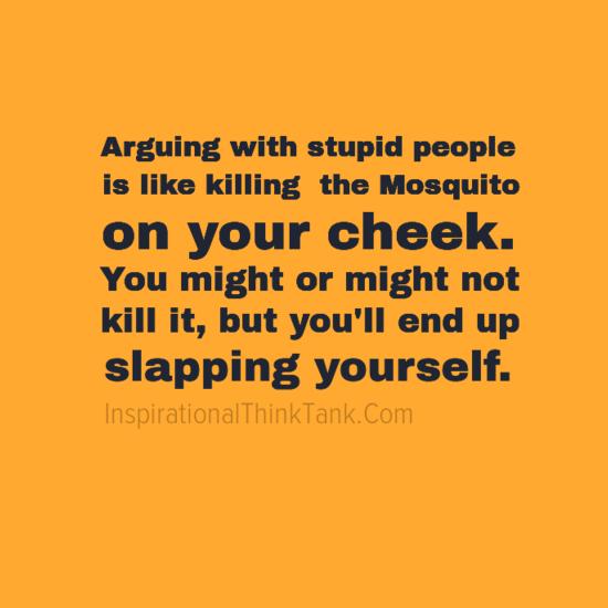 Arguing Idiots Quotes
