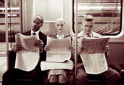 personas transporte público