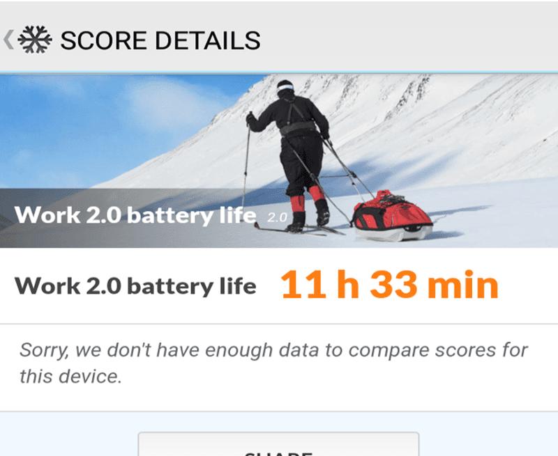 Good battery score!
