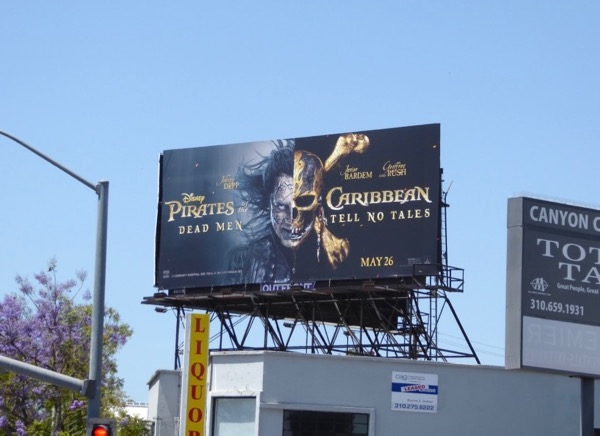 Captain Salazar Pirates Caribbean billboard