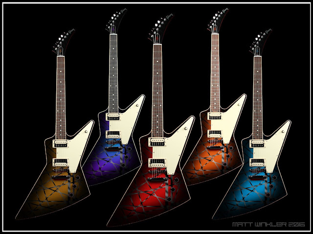 Custom Gibson Explorer Guitar Paintjob