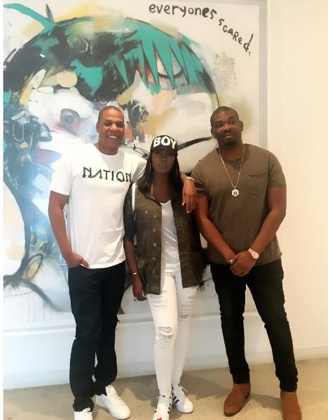 Don Jazzy and Tiwa Savage  picture with Jay Z