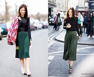 Model  Rok Wanita Pleated Skirt Kekinian terbaru