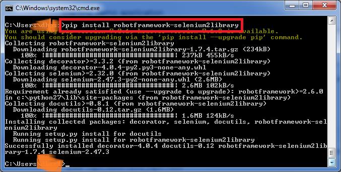 Installing SeleniumLibrary2