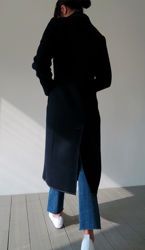 Navy Polo Coat