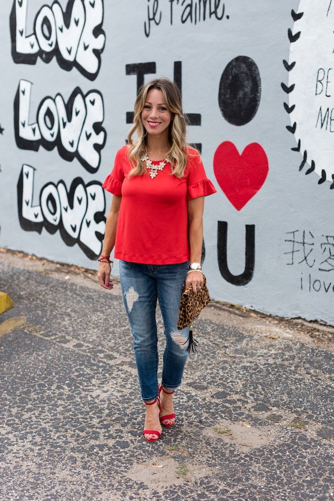 4d3f2456384 Date Night Style | Ruffle Tops + Boyfriend Jeans | Honey We're Home