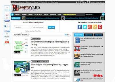 SoftsYard v1.0 Premium And SEO Optimized Blogger Template