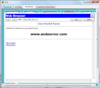 Cara Konfigurasi Webserver Menggunakan Cisco Packet tracer