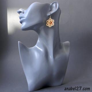 купить Серьги  из бисера с кристаллами Сваровски украина