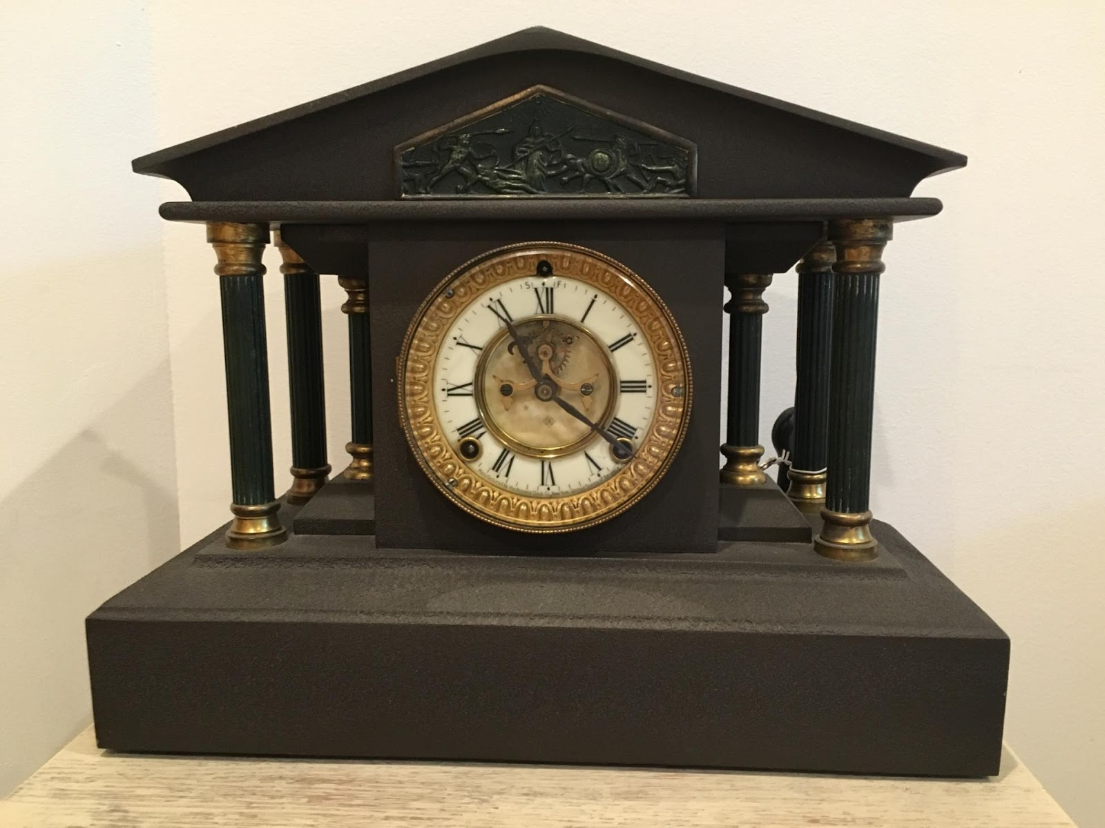 These Heavy Cast Clocks Have Stayed Fairly Firm In Value For 20 Years And  They Will Probably Remain In That Range In The Foreseeable Future.