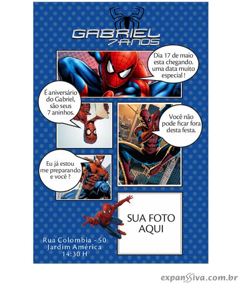 convites aniversario homem aranha 04 - Convites de Aniversário do Homem Aranha