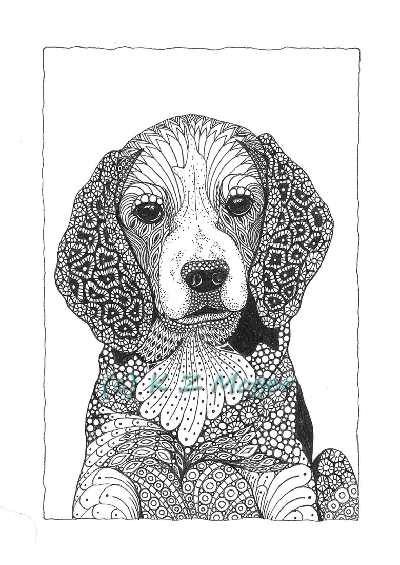12-English-Cocker-Spaniel-Kristin-Moger-Domestic-and-Wild-Zentangle-Animal-Portraits-www-designstack-co