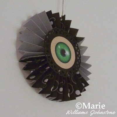 Eyeball decoration hanging up