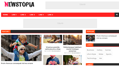 newstopia blogger template responsive