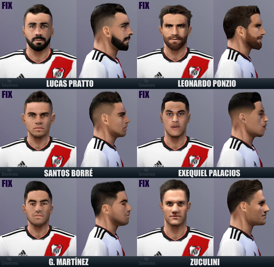Ultigamerz Pes 2010 Pes 2011 Face: Ultigamerz: PES 6 River Plate Faces-Pack 2019