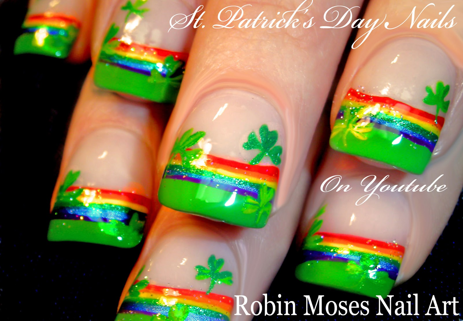 Nail Art by Robin Moses: St. Patrick\'s Day Nail Art 2016 \