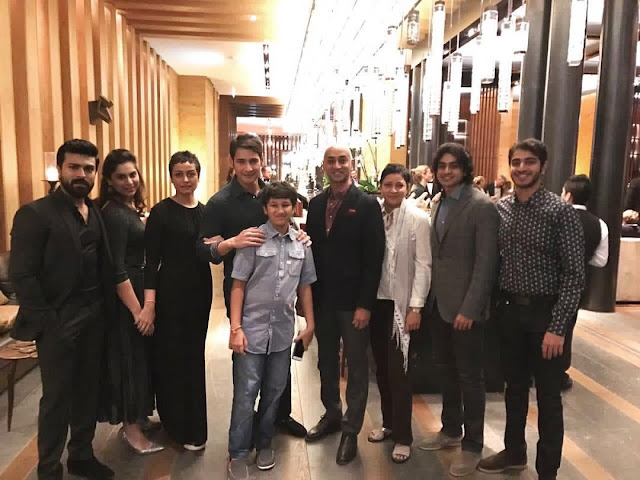 Ram Charan, Upasana with Mahesh Babu and family Photos